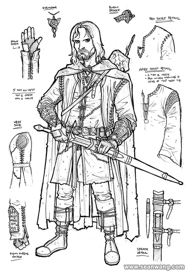 aragorn coloring pages | Aragorn Pages Coloring Pages