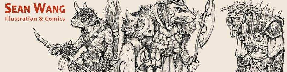 drawing game art Sean Wang Comic Creator Illustrator Illustrations